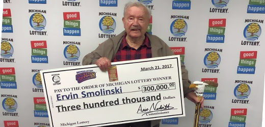 Ervin Smolinski. Photo Courtesy Michigan Lottery