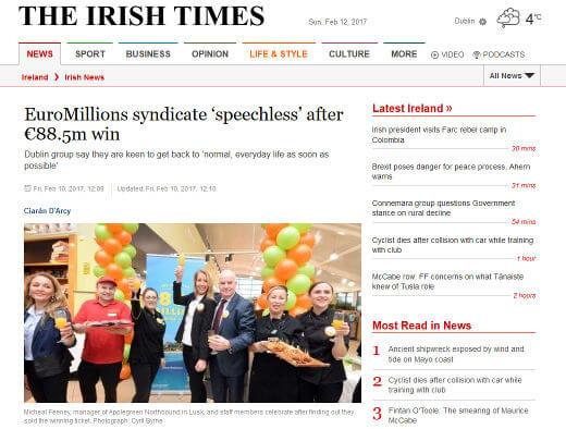 Irish EuroMillions Syndicate