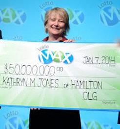 Kathryn Jones winners check