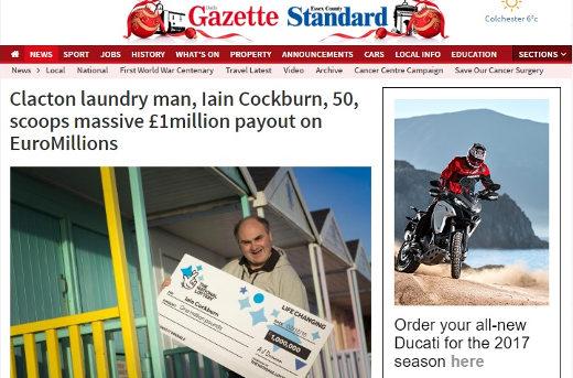 Clacton laundryman Iain Cockburn