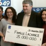 Marc Lachance lottery winner