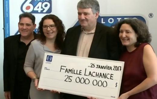 Marc Lachance lottery winner