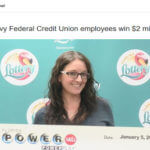 Syndicate of Navy Credit Union lottery winners