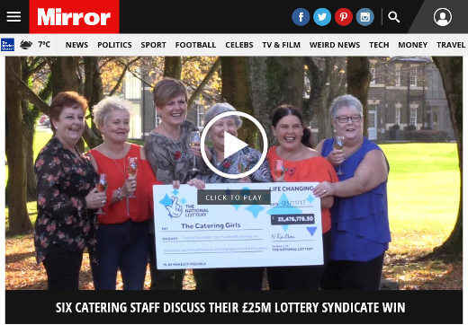NHS catering syndicate win EuroMillions