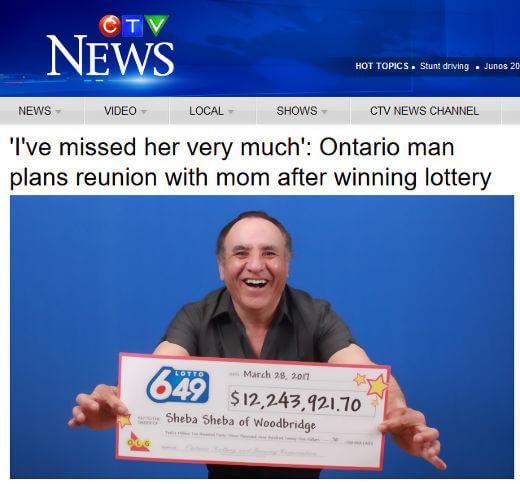 Ontario winner