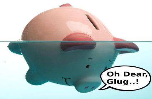 Piggy bank goes broke