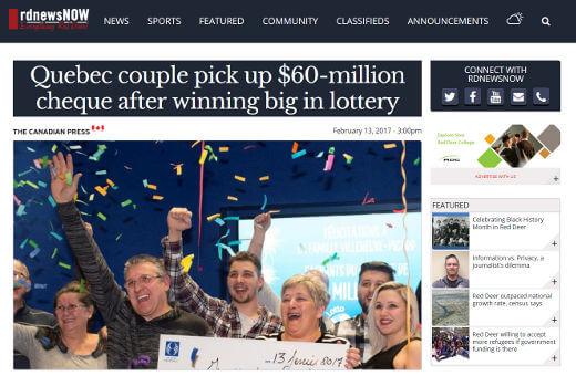 Villenueve and Marie-Josee Picard win Lotto Max