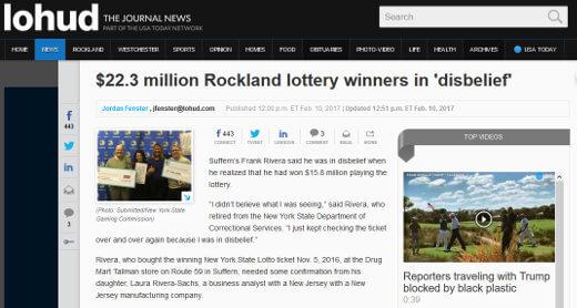 Rockland lottery winners