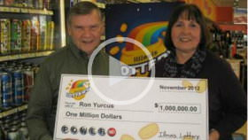ron yurcus $1M lottery winner