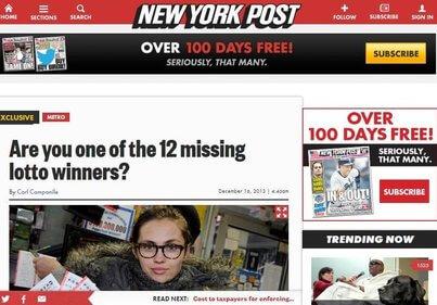 12 missing winners