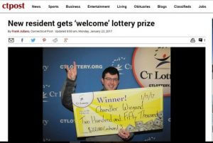 New Connecticut resident wins lotto prize