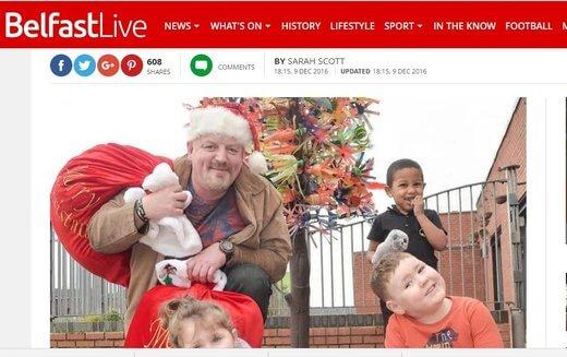 Bin Man Plays Santa