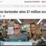 Bartender Wins $7 Million!