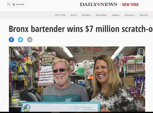 Bartender Wins $7 Million!