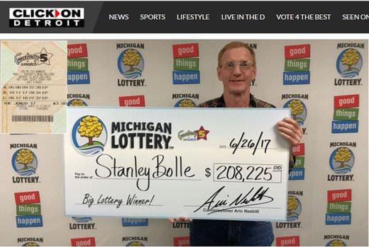 Michigan Man Wins $208K Lotto Jackpot