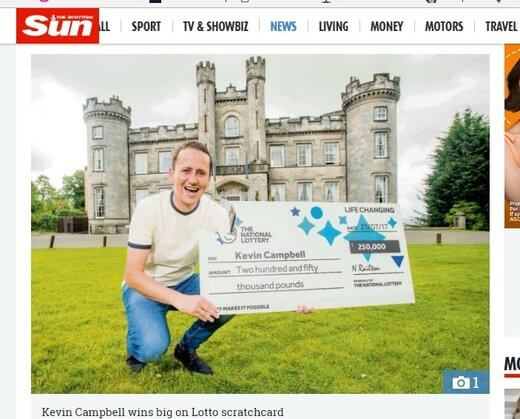 Plasterer Wins Lotto While Helping Out His Mate