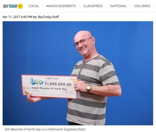 Canadian Lotto Winner Cried Like A Baby
