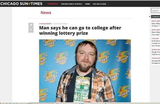 Lotto Winner Set To Go To College