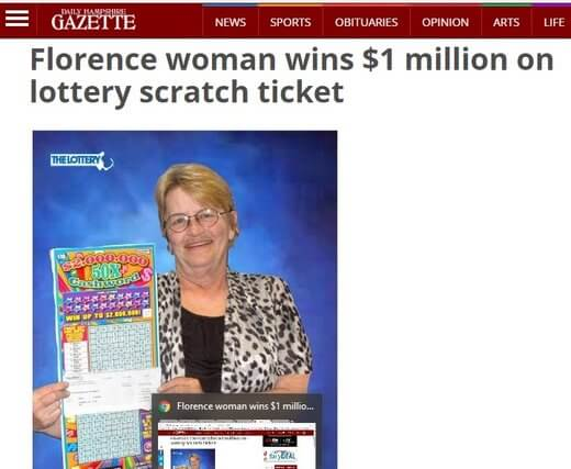 Florence Woman Wins Lotto Million