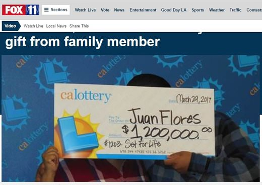 Gift Ticket Wins $1.2 Million