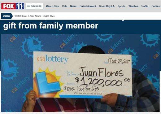 Gift Ticket Wins $1.2 Million