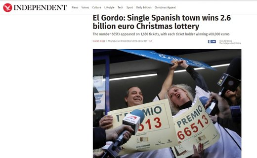 El Gordo Lottery Draw