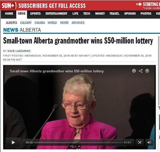 Grandma Wins Big