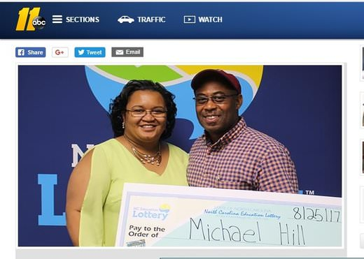 NC Man Bags $10 Million Lotto Prize