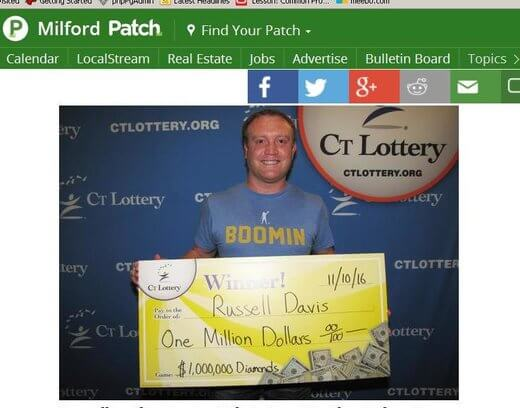 Man attributes lotto win to good karma!