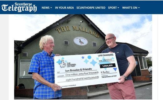 Pub Landlord Wins A Million Pounds