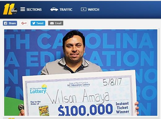 Construction Worker Posts Big Lotto Win