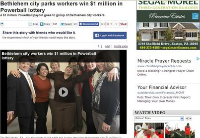 Ten City Workers Share A Million Dollar Win