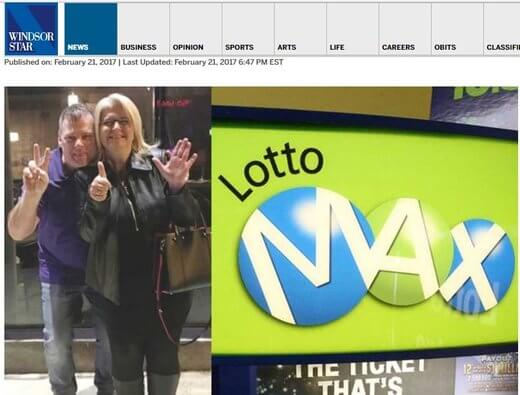 Tilbury Couple Bag $26M Lotto Max Jackpot!