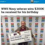 War Vet Posts $300K Win