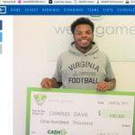 Virginia Athlete Wins $100,000