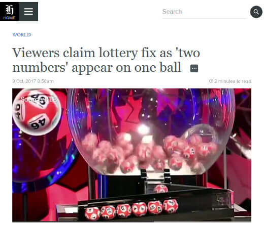 Same lottery number fix