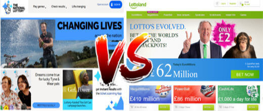 National Lottery vs LottoLand