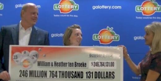 William ten Broeke big lottery winner